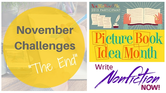November Challenges: The End  #NaNoWriMo #WNFIN #PiBoIdMo