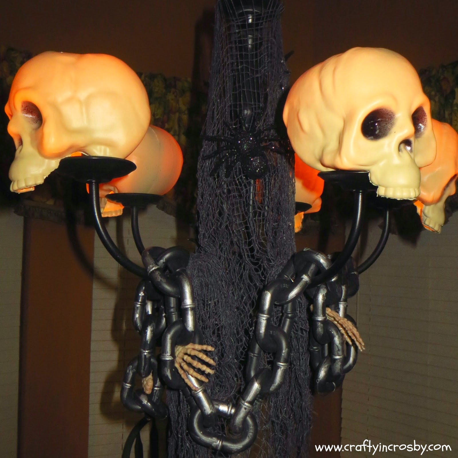 Dollar Tree, Halloween Decorations, Halloween DIY, Cheap Halloween Decor, Skull Shades
