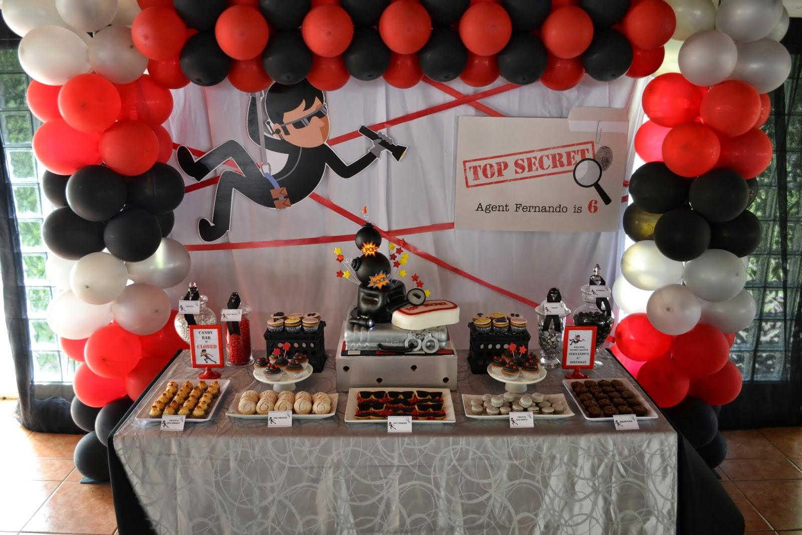 Secret Agent Cake Decorations