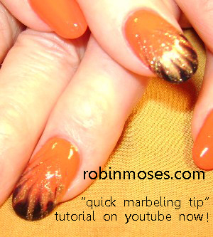 Marbling Nails Without Water Tutorial Alien Nail Art Cute