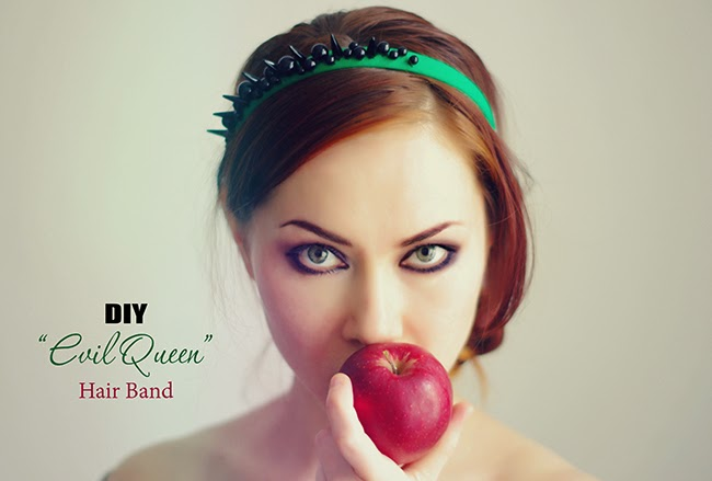 "How to make  the ""Evil Queen"" inspired hair accessory. Designed by Xenia Kuhn for www.fashionrolla.com"