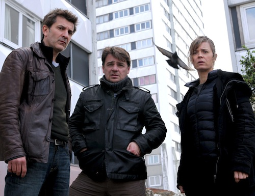 Fromentin (Fred Bianconi), Gilou (Thierry Godard) and Laure Berthaud (Caroline Proust). Pic: BBC