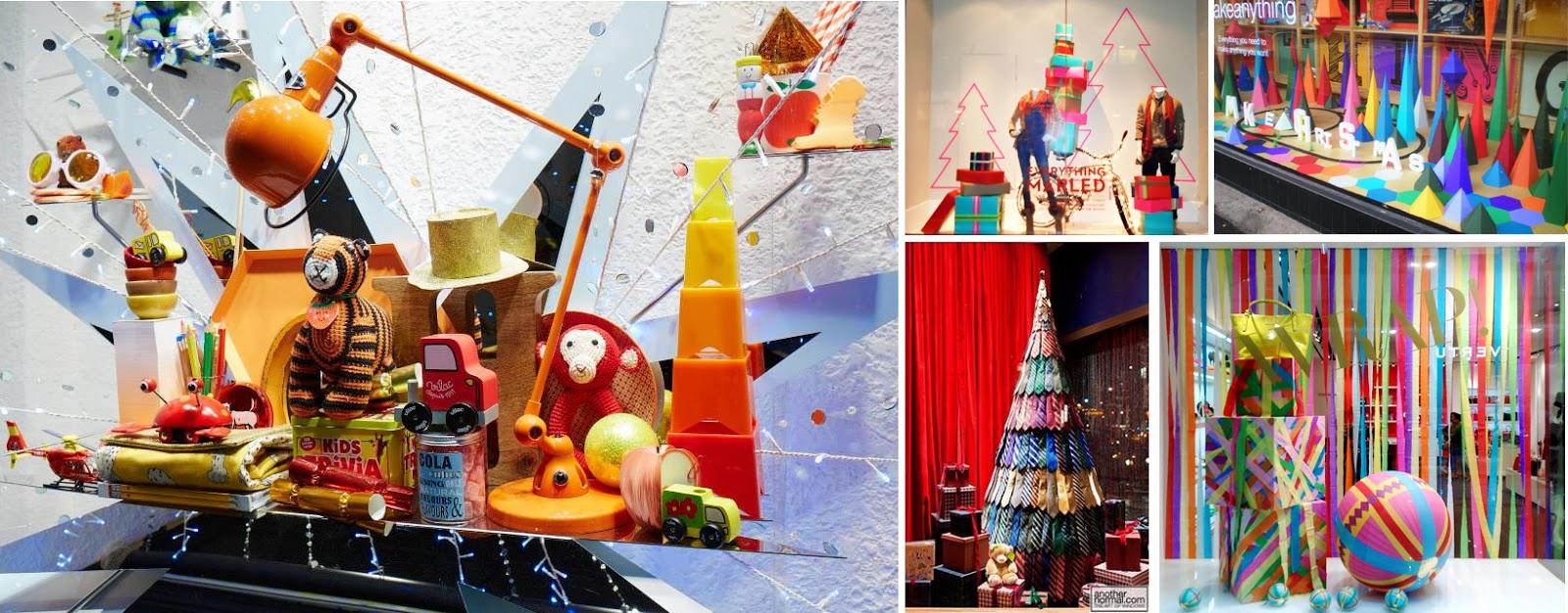 vitrines de natal coloridas design de ambientes