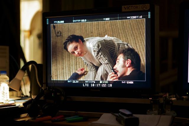 monitor con el director de fotografía Víctor Tejedor Navares en rodaje Tierra de Lobos