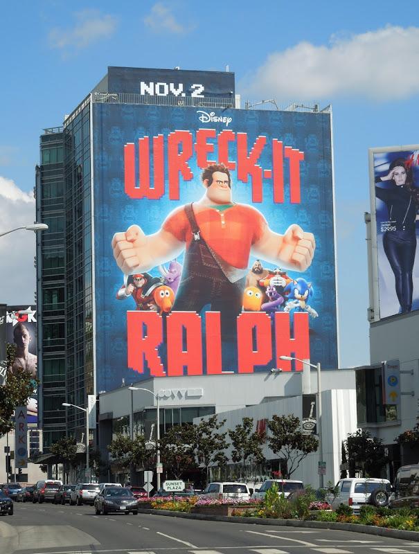 Giant Wreck-It Ralph movie billboard