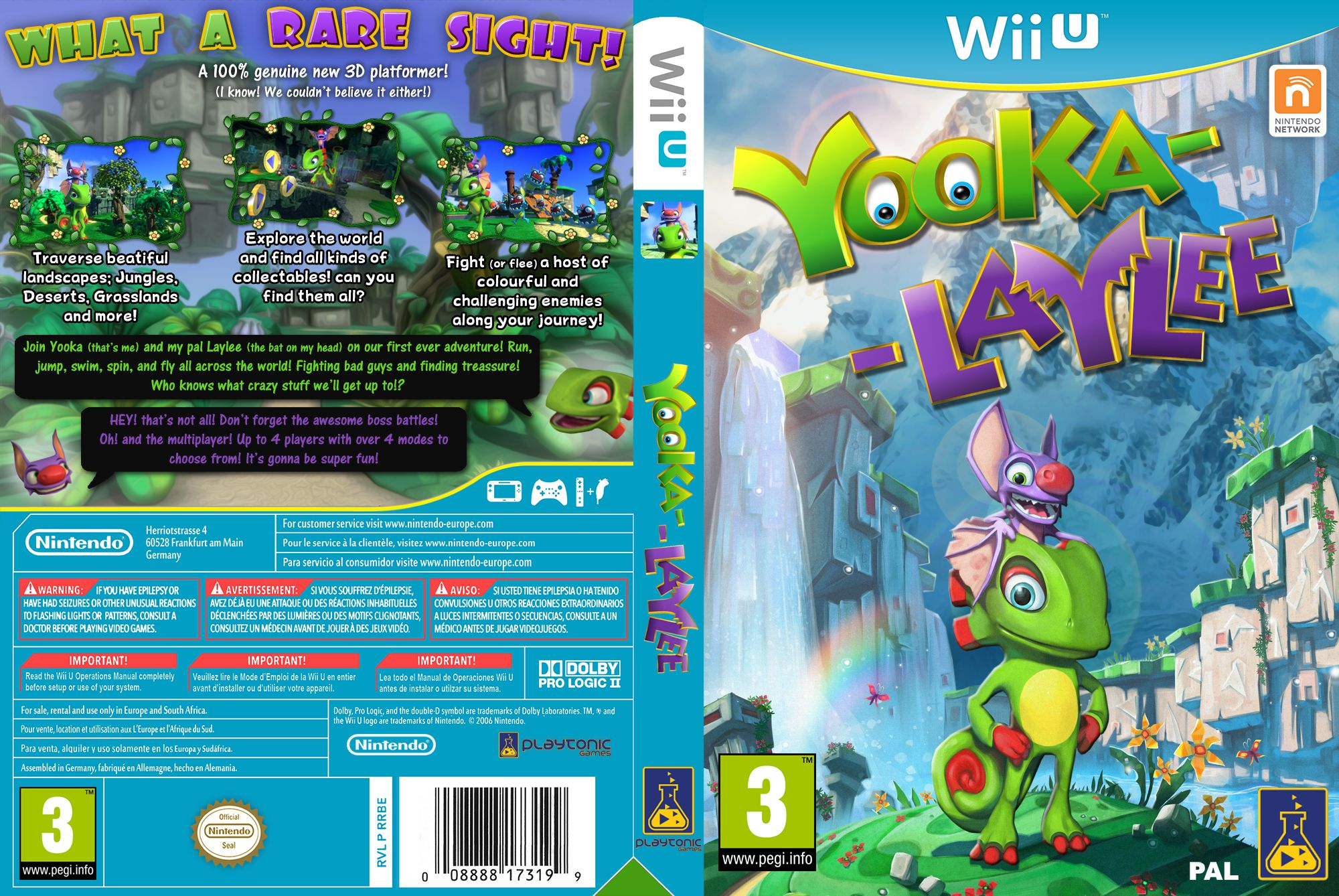 Capa Yooka Layllee Wii U