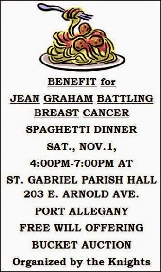 11-1 Spaghetti Dinner Benefit