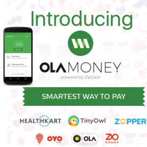 OlaMoney - 100% CashBack on Deposit of Rs 100
