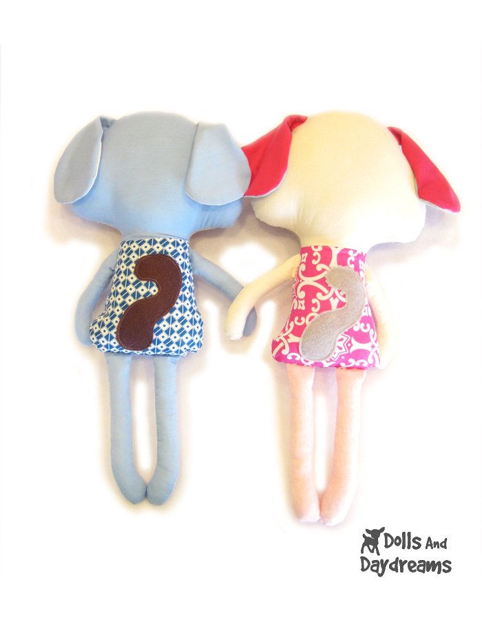 Dolls And Daydreams Doll And Softie PDF Sewing Patterns Puppy Dog