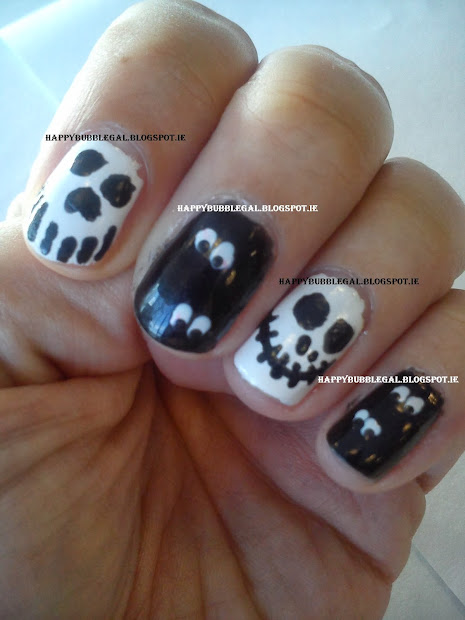 happy bubble gal halloween nail
