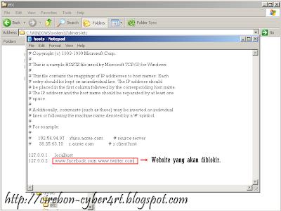 Memblokir Website Tanpa Menggunakan Software