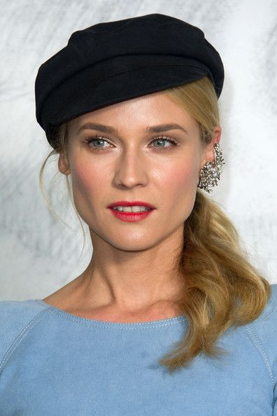 Diane Kruger sailor hat, Diane Kruger Chanel, Diane Kruger earrings