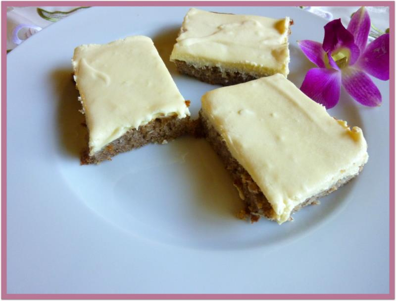 Low carbing by jennifer eloff banana bars with cream cheese frosting