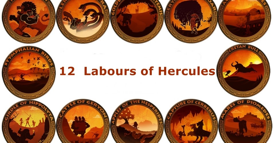 an analysis of the 12 labors of hercules in greek mythology They were certain that one of the 12 labors they designed would surely kill hercules, probably the very first one hercules was not interested in eury's crown, but he accepted the challenge.