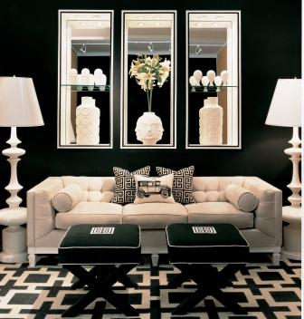 Le style journal get the look hollywood regency for Hollywood glam living room ideas