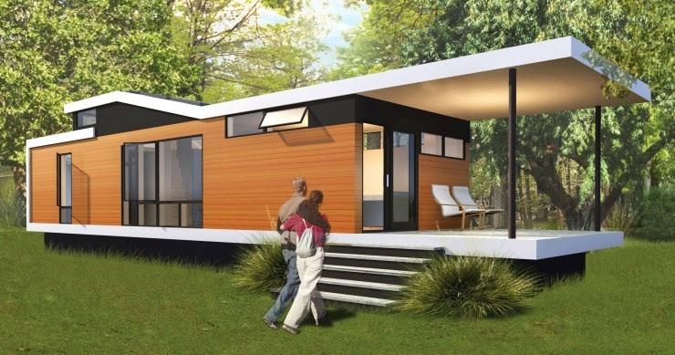 micro maison pr fabriqu e en bois cali solo 2. Black Bedroom Furniture Sets. Home Design Ideas