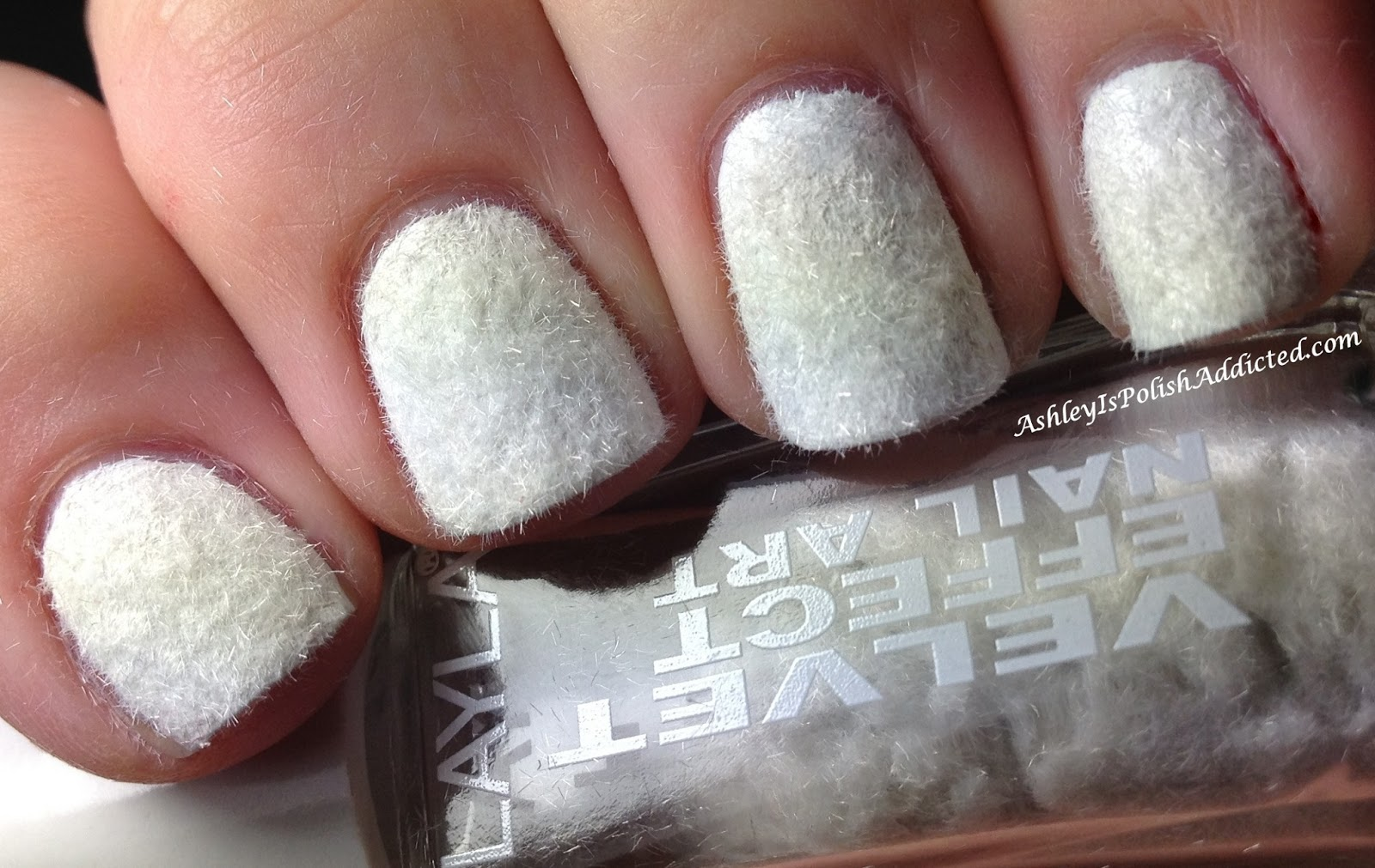 Ashley is PolishAddicted: Layla Velvet Effect Nail Art ...