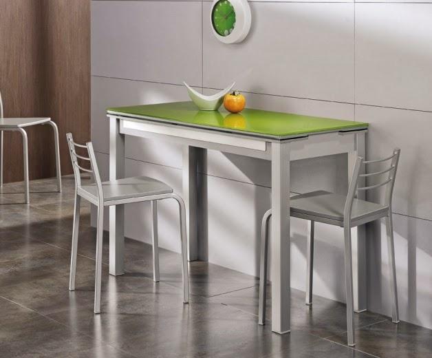 mesa cocina verde precio