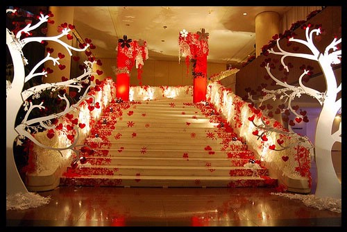 Wedding decoration wedding decorations ideas from japan for Asian wedding room decoration