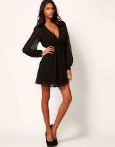 Long Wrap Dress with Sleeves