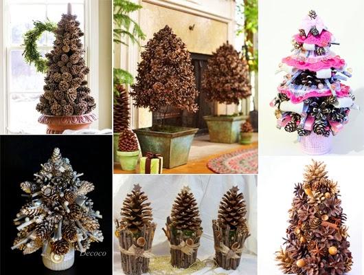 Relas albero di natale di pigne profumato del bosco un - Decorazioni natalizie con le pigne ...