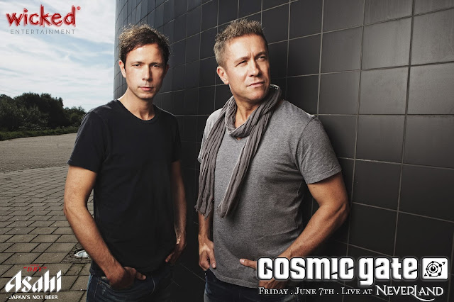 Look out for Cosmic Gate this 7th June @ Neverland Club
