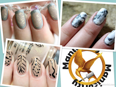 favorite Hunger Games manicure collage