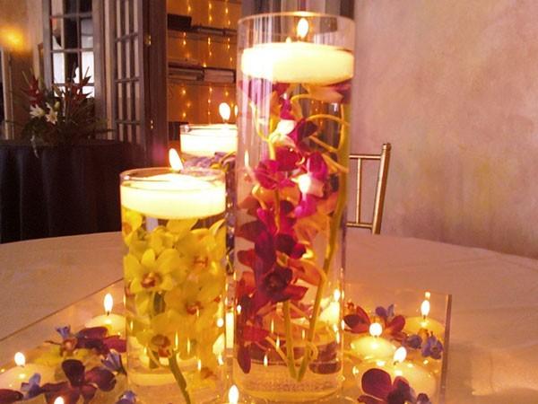 Manualidades Decoracion Velas ~ decoracion con velas velas flotantes en jarrones y con flores jpg