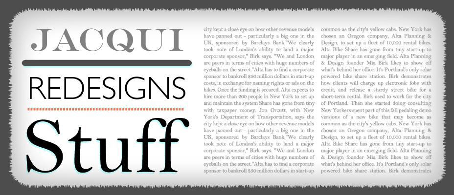 Jacqui Redesigns Stuff