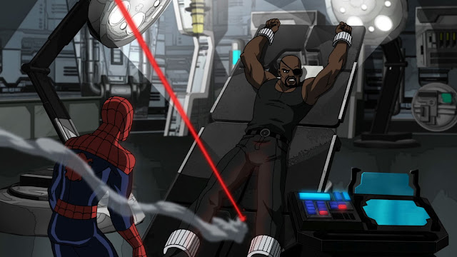 Nick Fury almost says goodbye to his impact force balls.