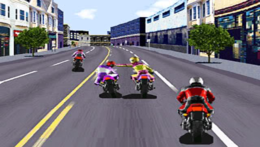 Bikes Road Rash Game Download and takes the bike