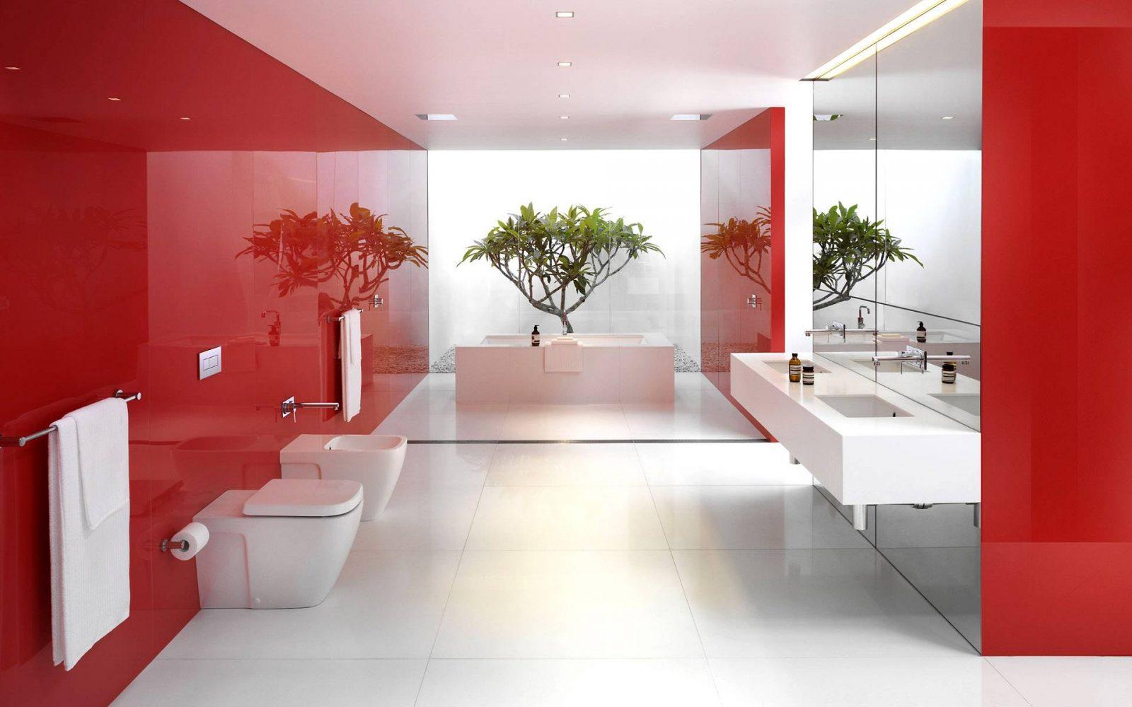 Baño De Color Rojo Deliplus:Decoracion Actual de moda: Decoración con tonos Rojos
