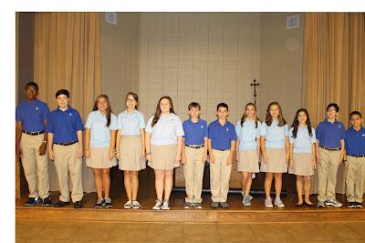 Middle School Knight Ambassadors Named at Montgomery Catholic Preparatory School 1