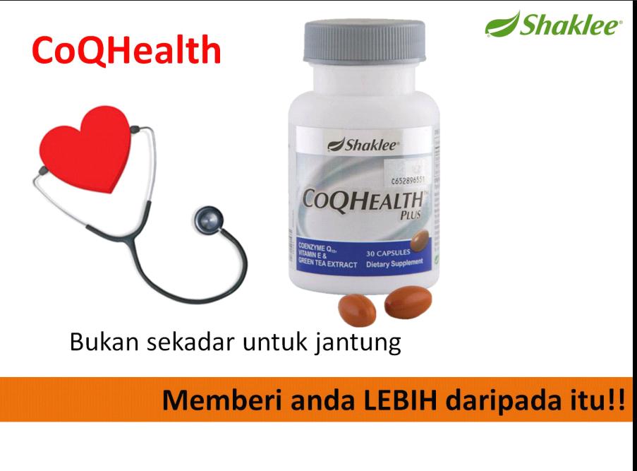 CoQ10 Health Plus Shaklee bukan sekadar untuk jantung