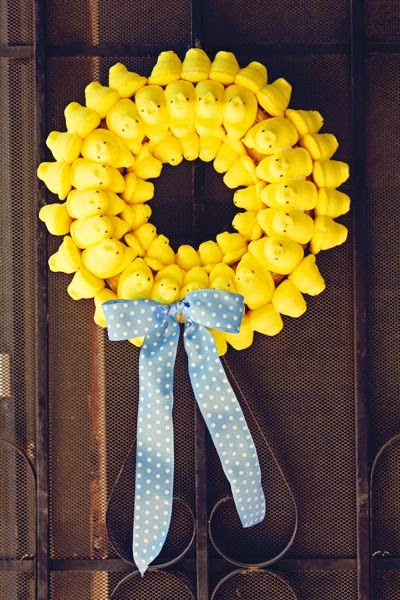 Easter peeps wreath