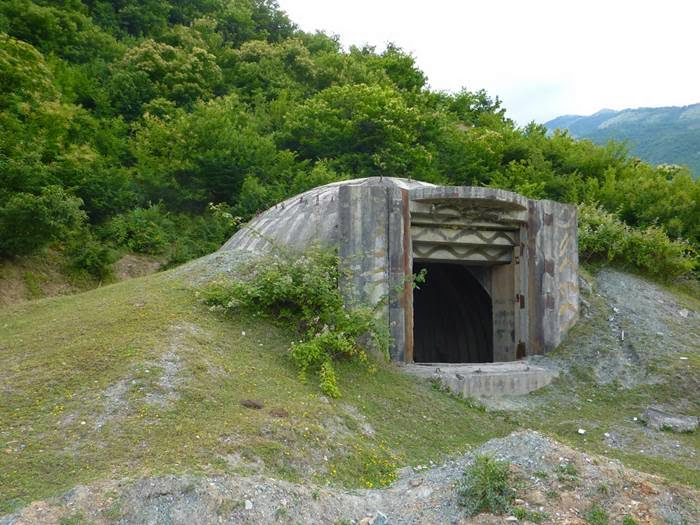 Bunkers on the Mountain of Albania
