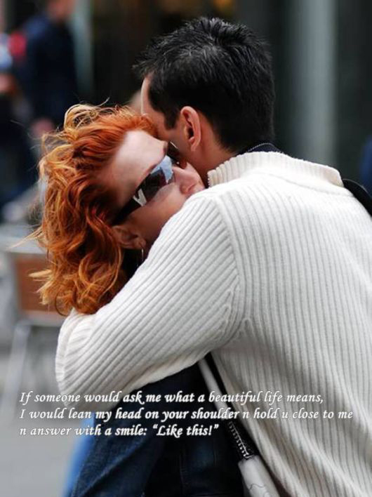 hugging couple love quote