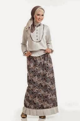 5 Model baju atasan Batik Remaja Muslim Terbaru