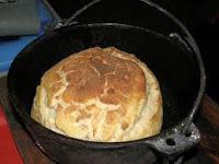 Camp oven damper bread