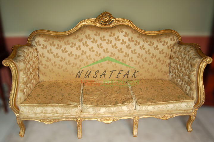 Kresna Louis XV Gold Leaf Sofa