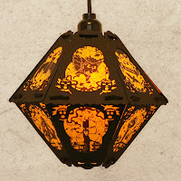 The Pumpkin Patch (last of yellow and black) limited edition vintage-style lantern by Bindlegrim on sale July 2013