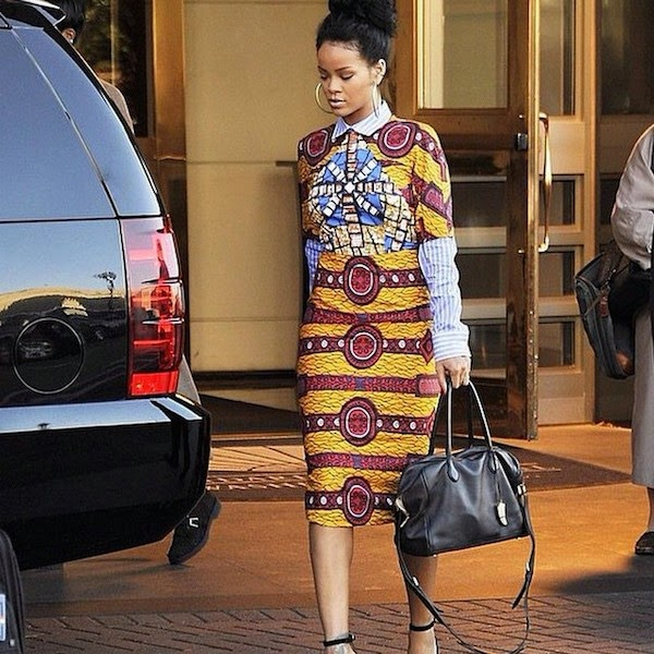 Rihanna wearing Stella Jean on her trip to the White House