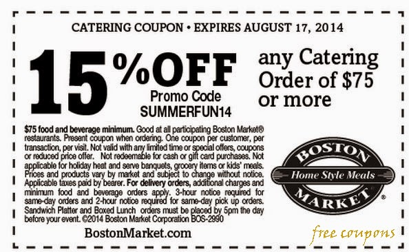 picture about Boston Market Printable Coupons named boston industry printable coupon november 2014