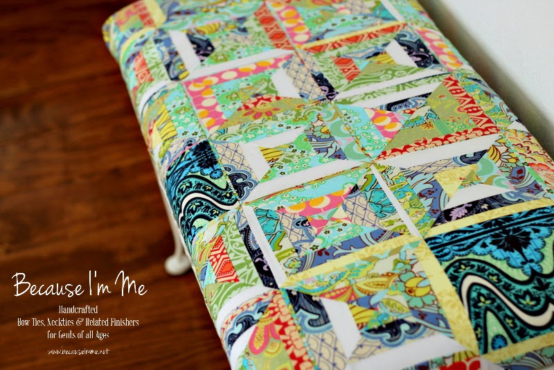 Because I'm Me wonderful bench update, new patchwork top