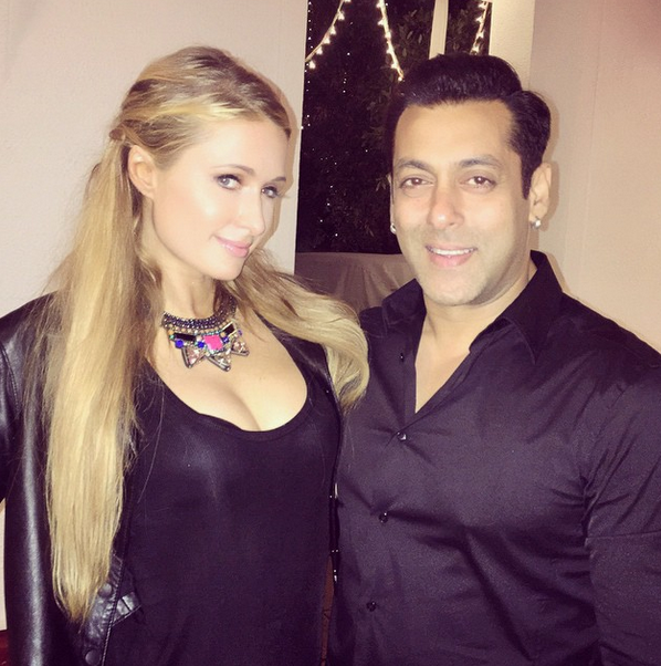 Paris Hilton in Mumbai with Salman