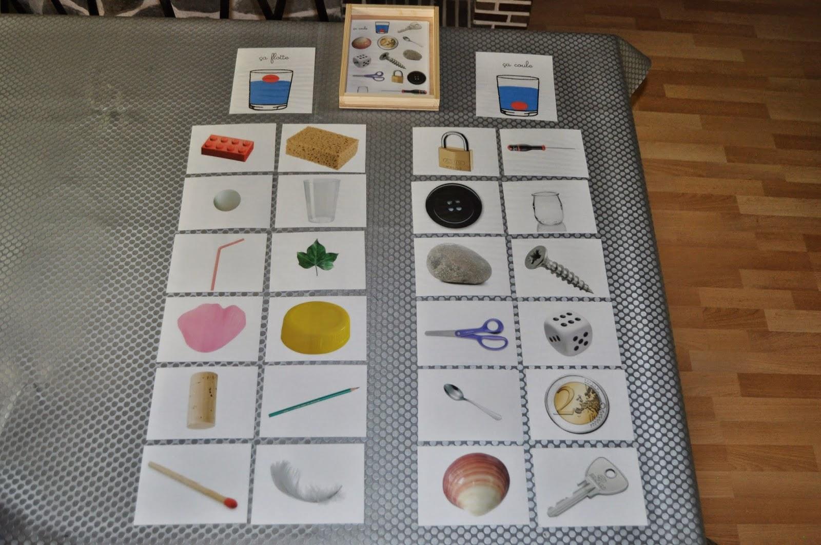 Ma petite fabrique montessori coffret a coule a flotte - Chasse d eau qui coule en continue ...