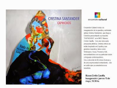 Cristina Santander en el Museo Caraffa