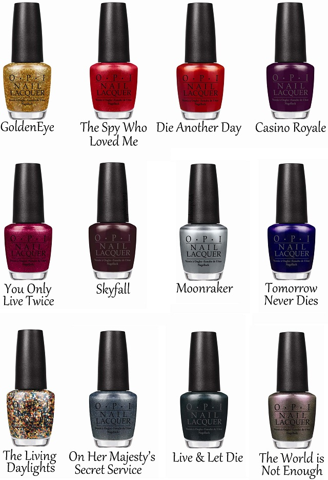 Fashion Polish: OPI Marks 50 Years of Bond 007 with Holiday Lacquers ...