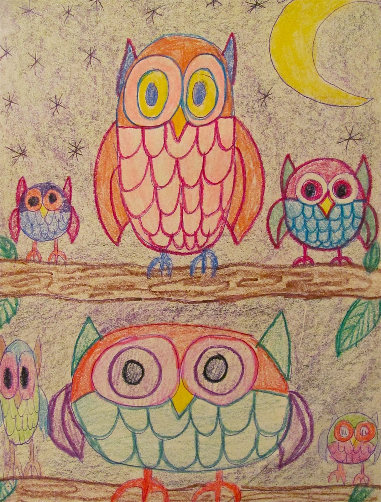 the chocolate muffin tree inspiration to draw owls