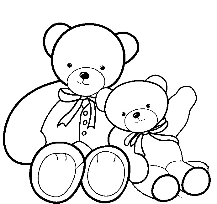 Teddy Bear Images Coloring Pages
